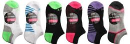 48 Units of Womens 2 Pair Elite No Show Athletic Performance Socks Size 9-11 - Womens Ankle Sock