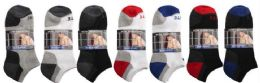 48 Units of Men's 2 Pack Ankle Solid Colors, Sock Size 10-13 - Mens Ankle Sock