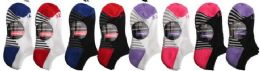 48 Units of Children's 2 Pair Elite No Show Athletic Performance Socks Size 6-8 - Girls Ankle Sock