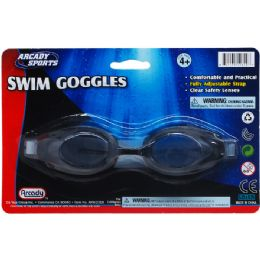 "48 Units of 6.75"" SWIMMING GOGGLES ON BLISTER CARD, 2 ASSRT CLR - Summer Toys"