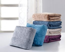 12 Units of V COLLECTION THROW - Fleece & Sherpa Blankets