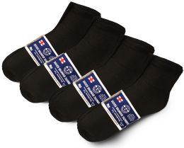 60 Units of SOCKSNBULK Mens Cotton Diabetic Non-Binding Ankle Socks Size 10-13 Black - Men's Diabetic Socks