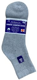 60 Units of Yacht & Smith Women's Diabetic Cotton Ankle Socks Soft Non-Binding Comfort Socks Size 9-11 Gray BULK PACK - Women's Diabetic Socks