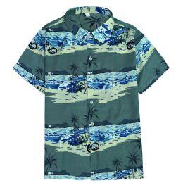 12 Units of Men's Light Grey Motorcycle Print Shirt ,Size S-2XL - Men's Work Shirts
