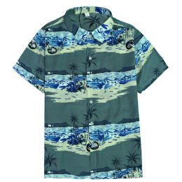 12 Units of Men's Light Grey Motorcycle Print Shirt Plus Size ,Size 2XL-4Xl - Men's Work Shirts