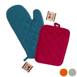 48 Units of Oven Mitt 12in & Potholder 7x9in 4 Assorted Colors Fall Colors Harvest Ht - Kitchen Gloves