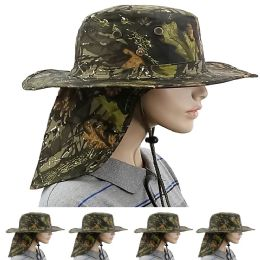 24 Units of MEN SUMMER HAT IN CAMOUFLAGE WITH BACK FLAPPER - Sun Hats
