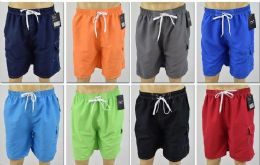 72 Units of Men's Assorted Color Bathing Suit, Size S-XL - Mens Bathing Suits