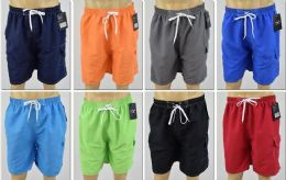 72 Units of Men's Assorted Color Bathing Suit, Size M-2XL - Mens Bathing Suits