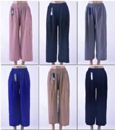 72 Units of Women's Solid Color Palazzo Pants - Womens Capri Pants