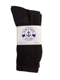 36 Units of Yacht & Smith Women's Sports Crew Socks Size 9-11 Brown Bulk Pack - Womens Crew Sock