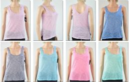 72 Units of Women's Assorted Color Tank Tops - Womens Camisoles & Tank Tops