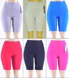 72 Units of Women's Millennium High Waist Bermuda - Womens Shorts