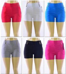 72 Units of Women's Millennium High Waist Shorts - Womens Shorts