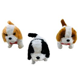 24 Units of Barking and Walking Dog [Colored Ears & Tail] - Plush Toys