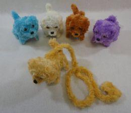48 Units of Barking and Walking Dog [Furry Leash] - Plush Toys