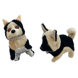 48 Units of Barking and Walking Dog [German Shepherd with Chain] - Plush Toys