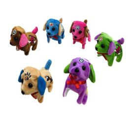 48 Units of Barking and Walking Dog [Two-Tone with Puppy Accents] - Plush Toys