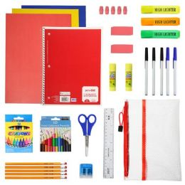 24 Units of 44 Piece Kids Bulk School Supply Kits - School Supply Kits