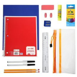 24 Units of 31 Piece Wholesale Kids School Supplies Kit - School Supply Kits