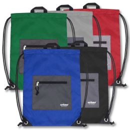 48 Units of Urban Sport 18 Inch Drawstring Bag - 5 Color - Draw String & Sling Packs