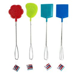 48 Units of Fly Swatter 2pk Metal Handle - Pest Control