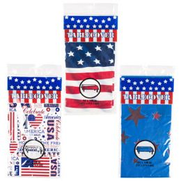 72 Units of Patriotic Plastic Table Cloth - 4th Of July