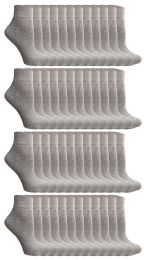 72 Units of Yacht & Smith Women's Cotton Ankle Socks Gray Size 9-11 - Womens Ankle Sock
