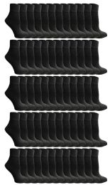 72 Units of Yacht & Smith Women's Premium Cotton Ankle Socks Black Size 9-11 - Womens Ankle Sock