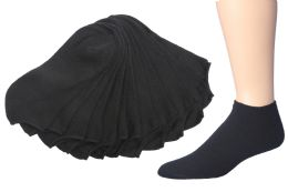180 Units of Mens Low Cut Cotton Sport Ankle Socks Size 10-13 Solid Black - Mens Ankle Sock