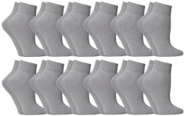 60 Units of Yacht & Smith Women's No-Show Ankle Socks Size 9-11 Gray BULK PACK - Womens Ankle Sock