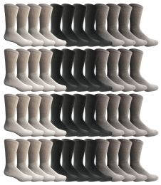 48 Units of Yacht & Smith Women's Sports Crew Socks, Size 9-11, Assorted - Womens Crew Sock