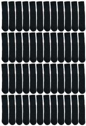 48 Units of Yacht & Smith 28 Inch Men's Long Tube Socks, Black Cotton Tube Socks Size 10-13 - Mens Tube Sock