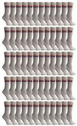 240 Units of Yacht & Smith Women's USA American Flag Crew Socks, Size 9-11 White - Womens Crew Sock