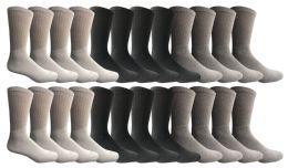 24 Units of Yacht & Smith Kids Sports Crew Socks, Wholesale Bulk Pack Athletic Sock Size 6-8 - Boys Crew Sock