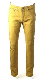 24 Units of Mens Skinny Jeans Solid Khaki - Mens Jeans