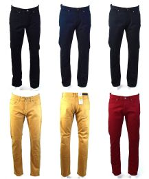 120 Units of Mens Slim Jeans Solid Assorted Colors - Mens Jeans