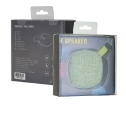 12 Units of FABRIC BLUETOOTH SPEAKER GREEN - Speakers and Microphones