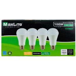 24 Units of Maxlite 4 Pack Led Bulb 15 Watt - Lightbulbs