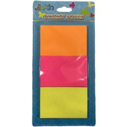 36 Units of Three Pack Sticky Notes Neon - Sticky Note & Notepads