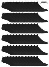 72 Units of Yacht & Smith Kids No Show Ankle Socks Size 4-6 Black - Boys Ankle Sock
