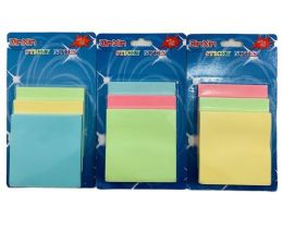 36 Units of Three Pack Sticky Notes Pastel - Sticky Note & Notepads