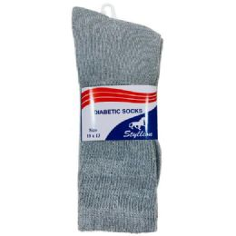 36 Units of Three Pack Diabetic Crew Sock - Diabetic Socks