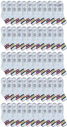 120 Units of Yacht & Smith Men's King Size Premium Cotton Sport Ankle Socks Size 13-16 With Stripes - Big And Tall Mens Ankle Socks