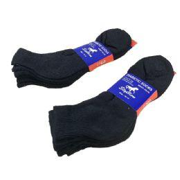 36 Units of 3 Pair Pack Black Diabetic Quarter Socks - Diabetic Socks