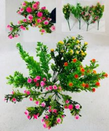 72 Units of 7 Head Flower Plastic - Artificial Flowers