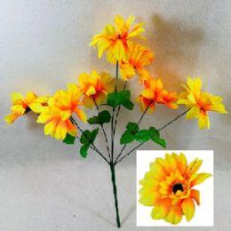 72 Units of 7 Head Sun Flower - Artificial Flowers
