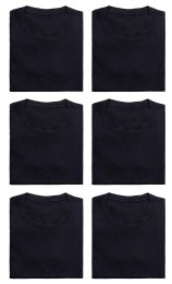36 Units of Mens Cotton Crew Neck Short Sleeve T-Shirts Black, XxX-Large - Mens T-Shirts