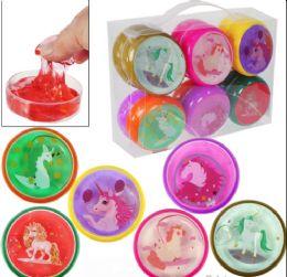 "144 Units of 3"" Unicorn Crystal Mud Slime - Slime & Squishees"