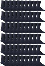 72 Units of Yacht & Smith Women's Sports Crew Socks, Size 9-11, Navy - Womens Crew Sock